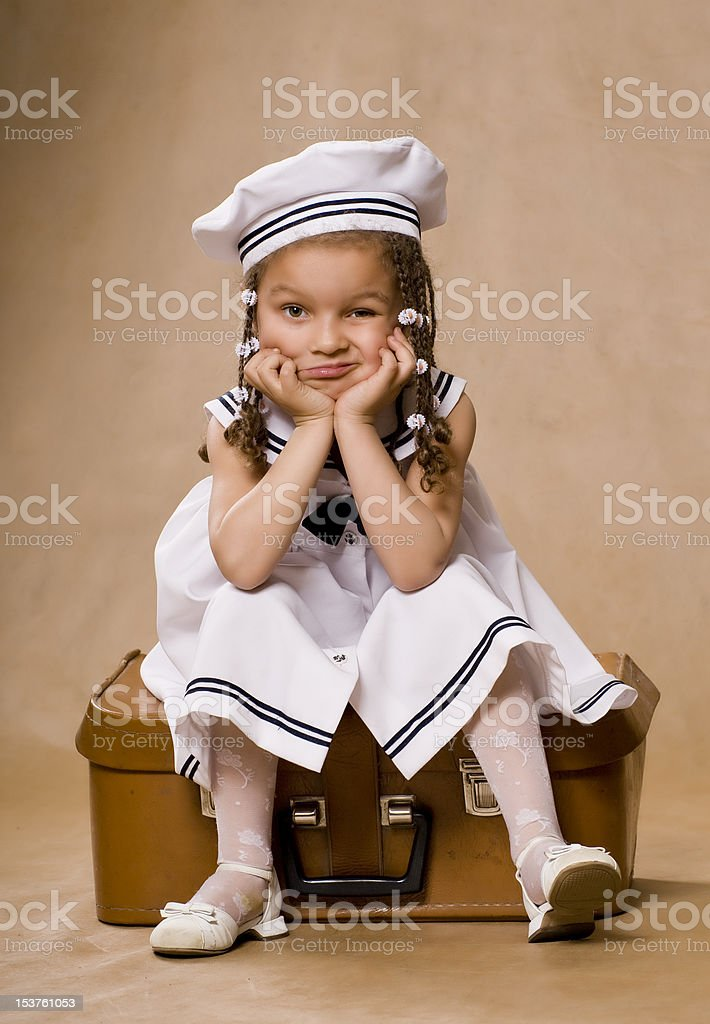 Adorable african little girl. stock photo