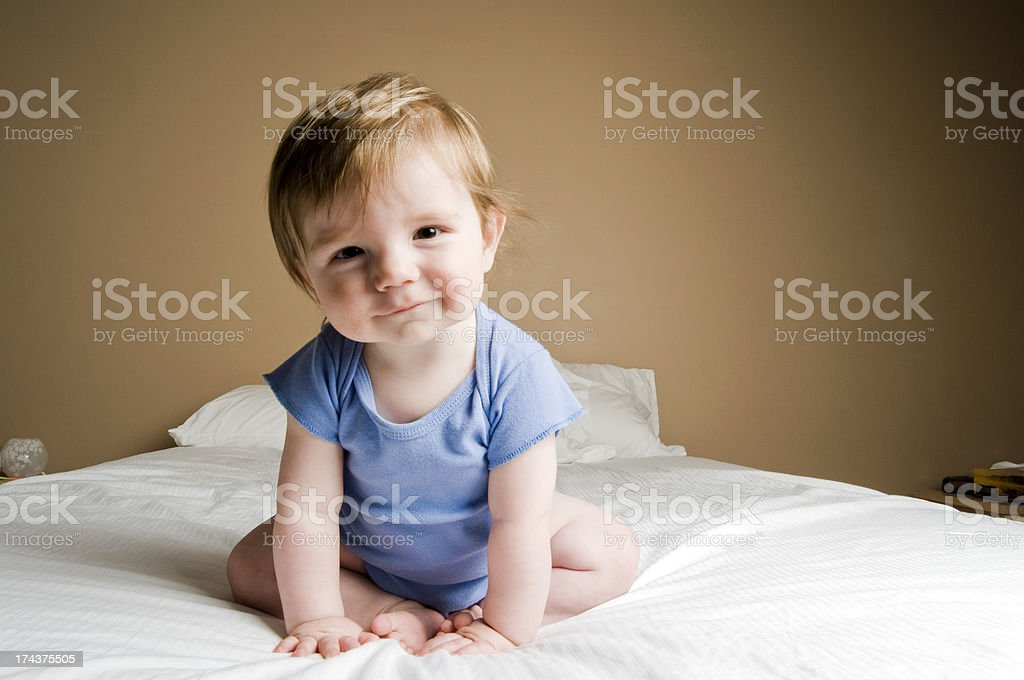 Adorable and Happy Baby stock photo