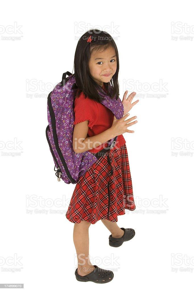 Adorable Asian Schoolgirl royalty-free stock photo