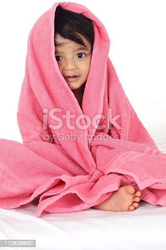 923852236 istock photo Adorable baby boy after bath 1128399001