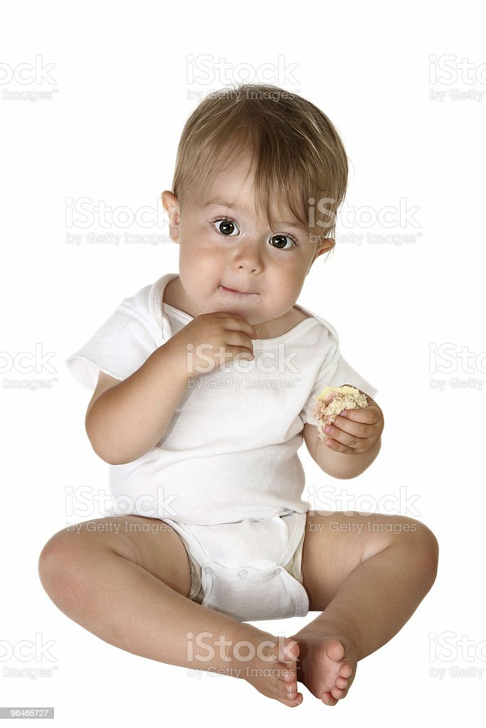 Adorable Baby Boy Eating royalty-free stock photo