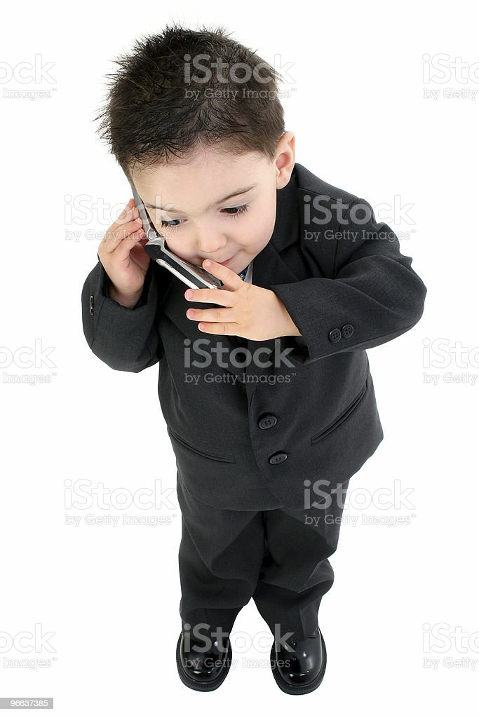 97f1a0807 Adorable Baby Boy In Suit On Cellphone Stock Photo   More Pictures ...