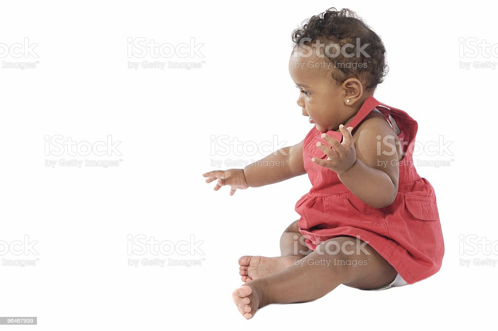 Adorable baby crawling royalty-free stock photo