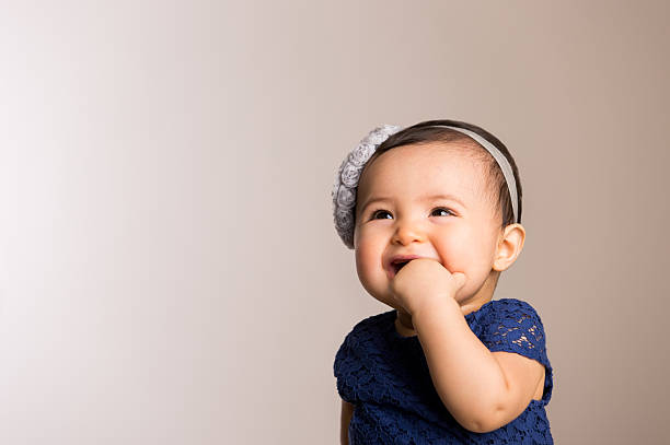 Adorable baby girl stock photo