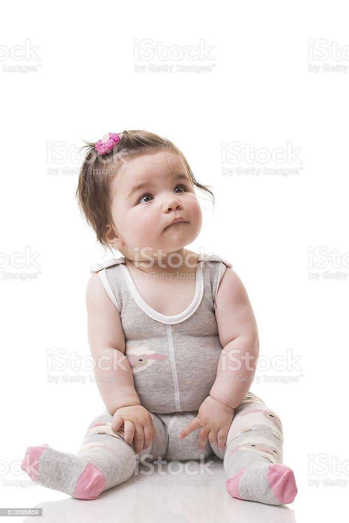 Adorable baby girl stock photo