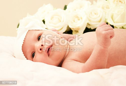 istock Adorable baby newborn 527706019