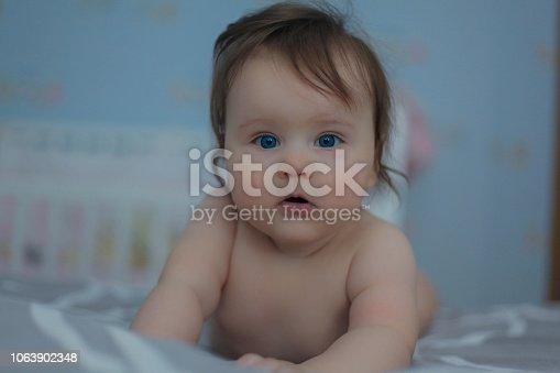 istock Adorable baby. 1063902348