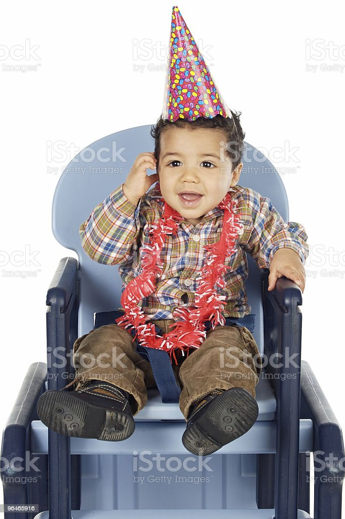 adorable boy celebrating your birthday royalty-free stock photo