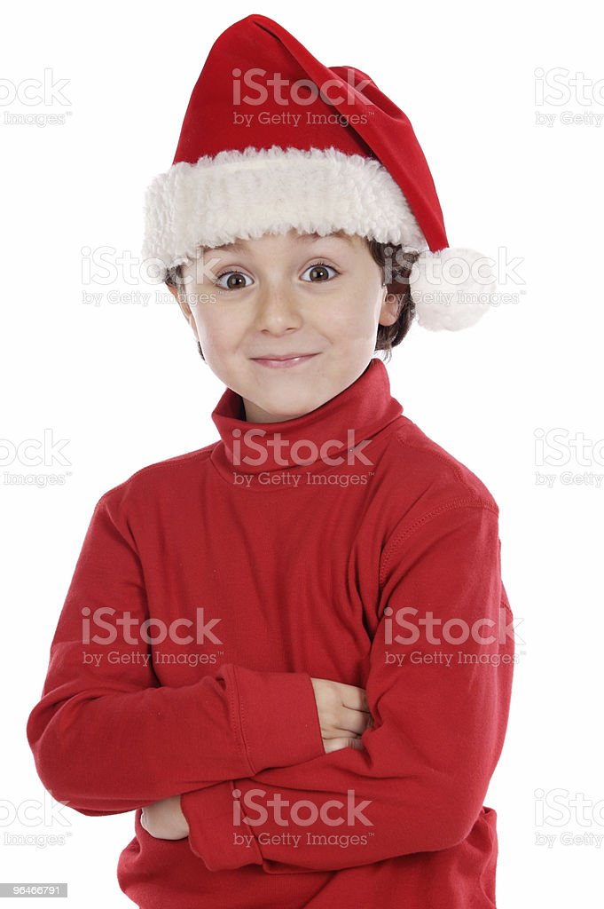 Adorable boy in christmas royalty-free stock photo