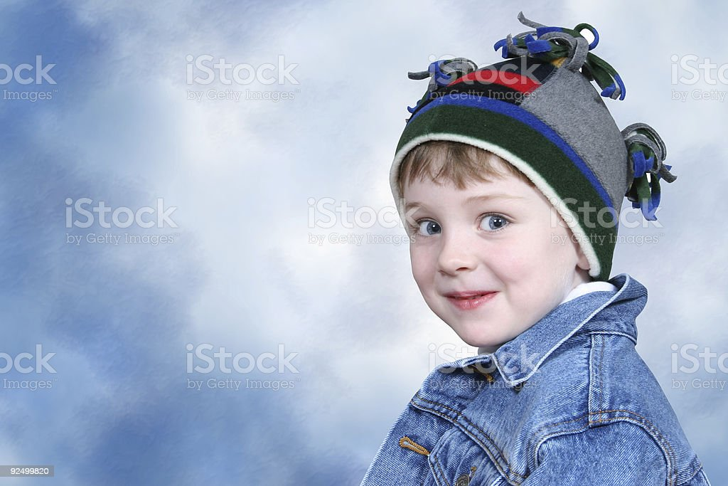 Adorable Boy in Winter Hat royalty-free stock photo