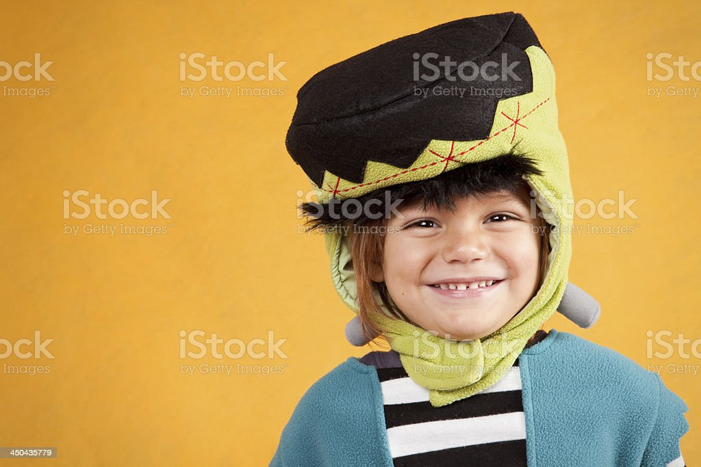 Adorable Boy Wearing Monster Costume stock photo