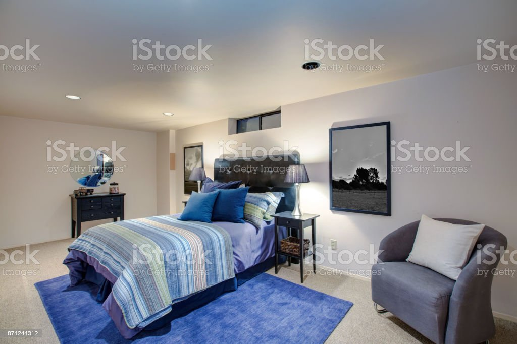 Adorable Boys Bedroom Design With Ivory Painted Walls Stock Photo Download Image Now Istock