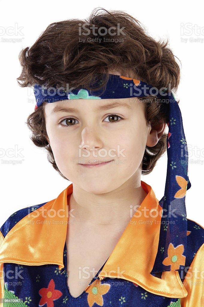 Adorable child hippie royalty-free stock photo