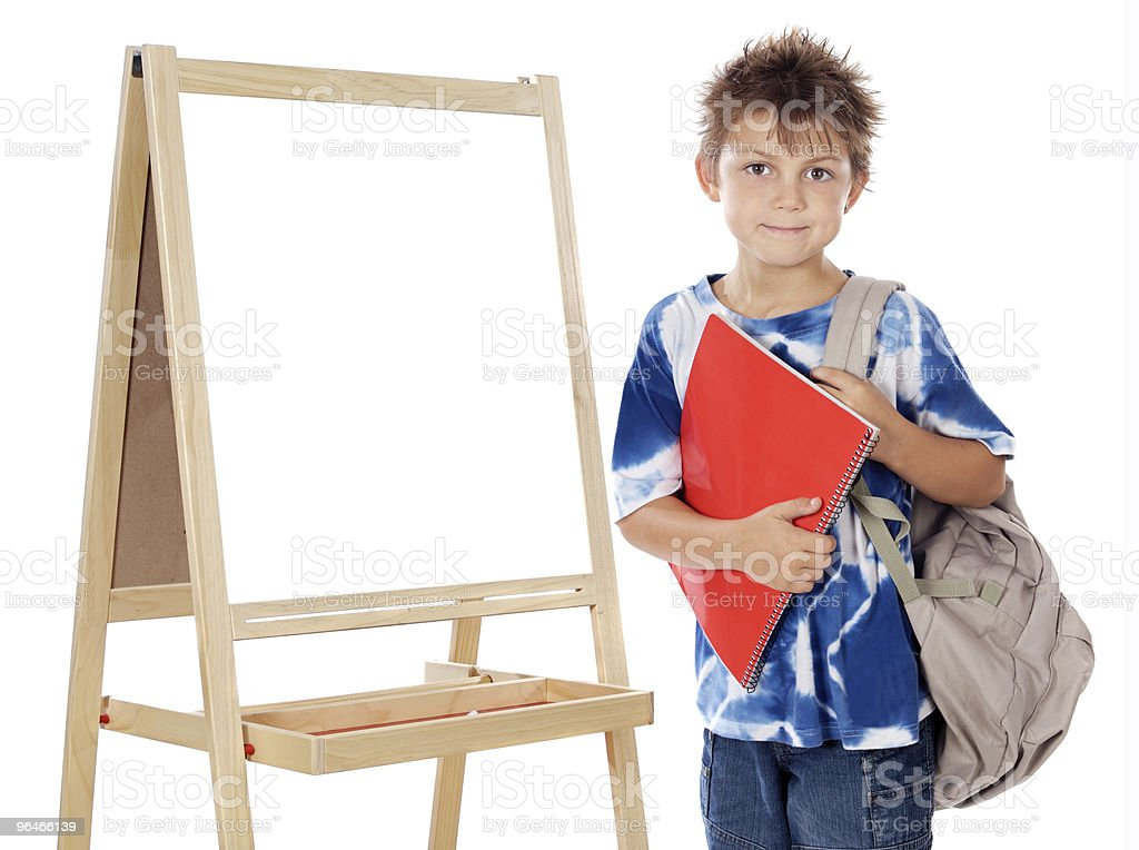 Adorable child studying royalty-free stock photo