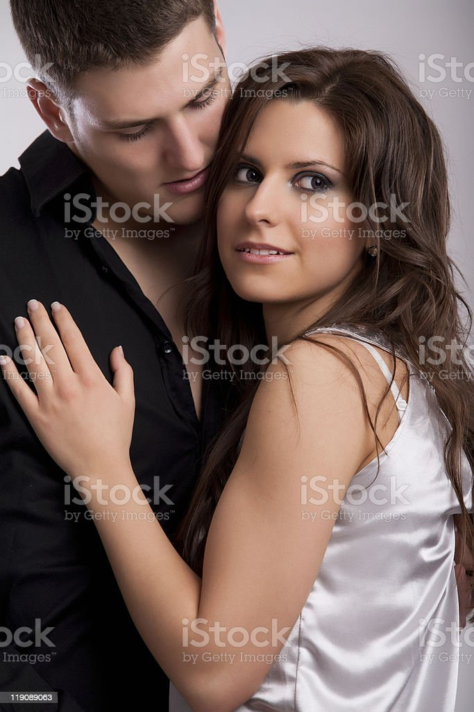 Adorable couple royalty-free stock photo
