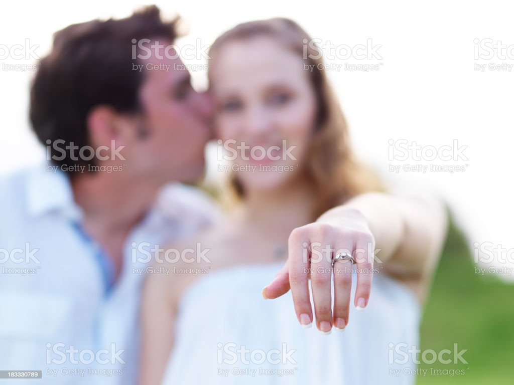 Adorable engagement ring royalty-free stock photo