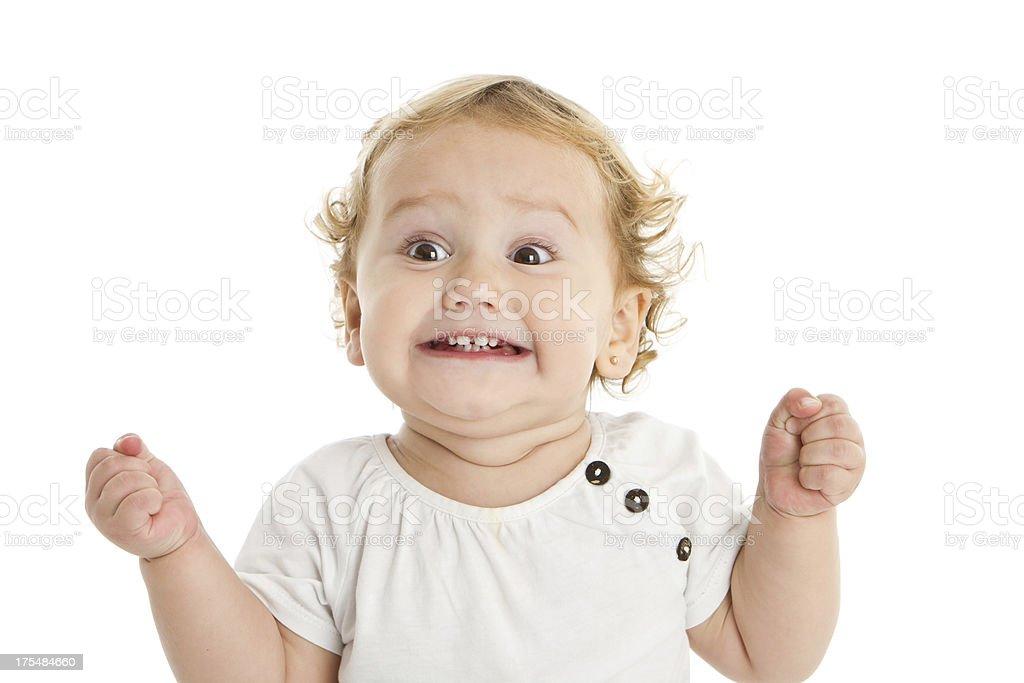 Niedliche kleine Mädchen ausdrucksstarke – Foto