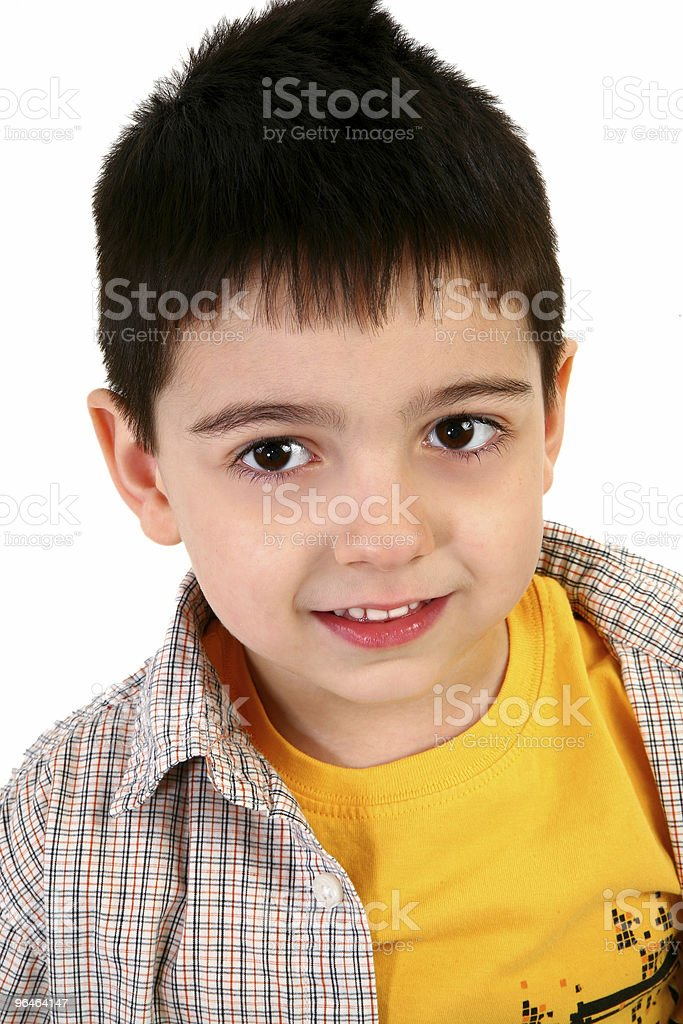 Adorable Five Year Old Boy royalty-free stock photo