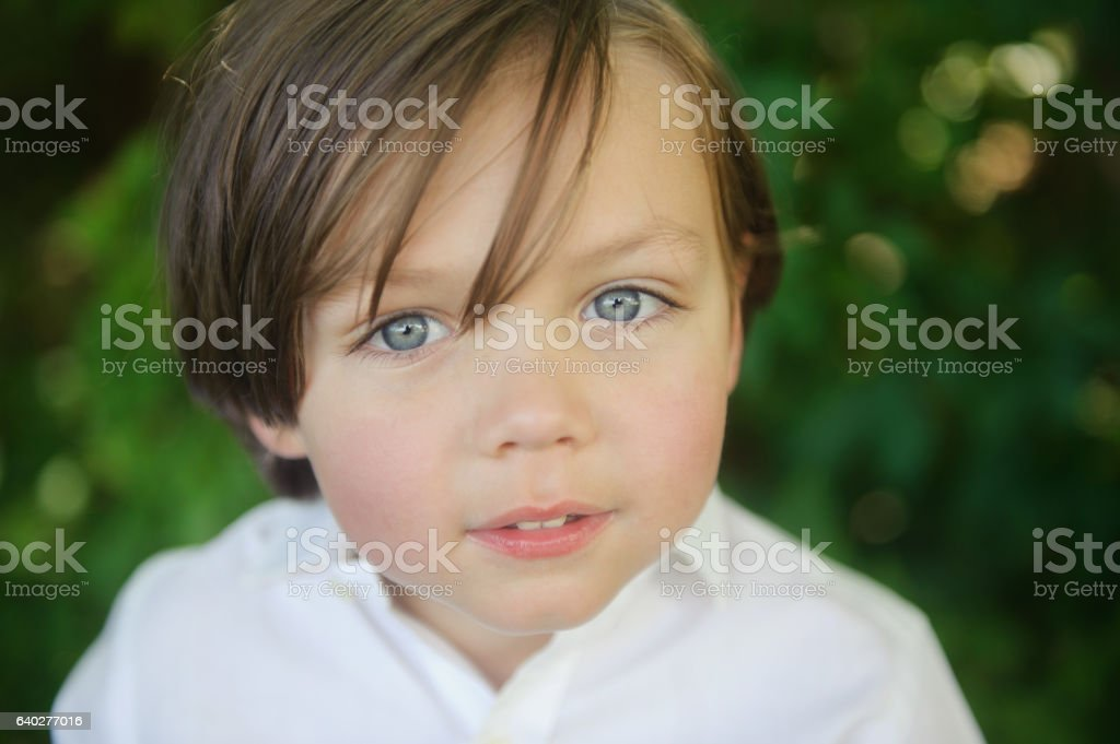 Royalty Free Little Boys Summer Blue Eyes Brown Hair Pictures