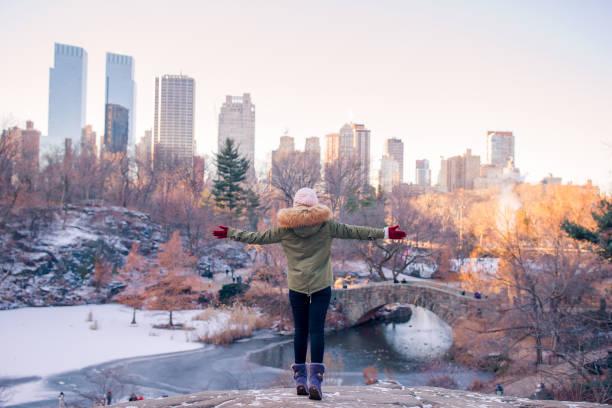 Entzückende Mädchen im Central Park in New York City – Foto