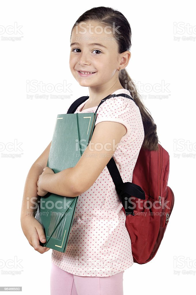 adorable girl studying royalty-free stock photo