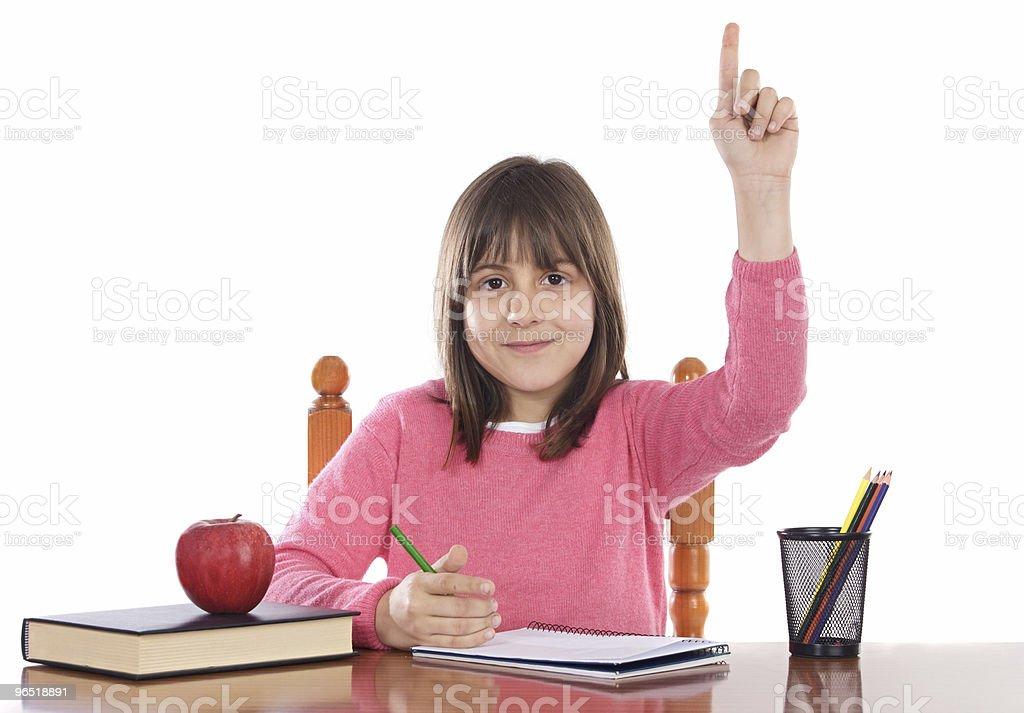 adorable girl studying royalty-free stock photo