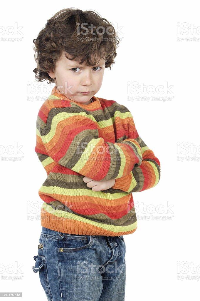 adorable gotten upset boy royalty-free stock photo