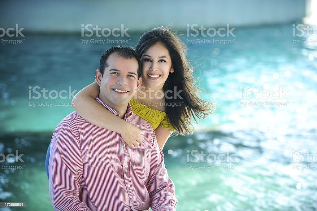 Adorable hipanic couple royalty-free stock photo
