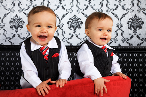 Adorable Identical Twin Boys Stock Photo - Download Image Now