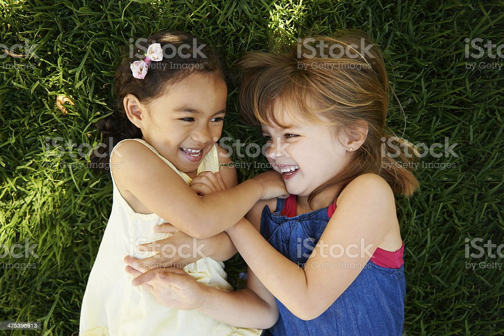 Adorable laughter stock photo