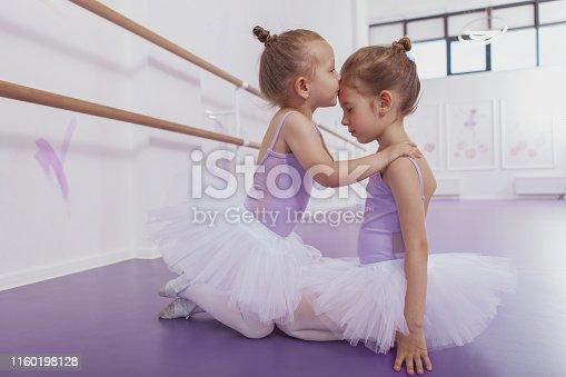 1160198096 istock photo Adorable little ballerinas at dancing school 1160198128