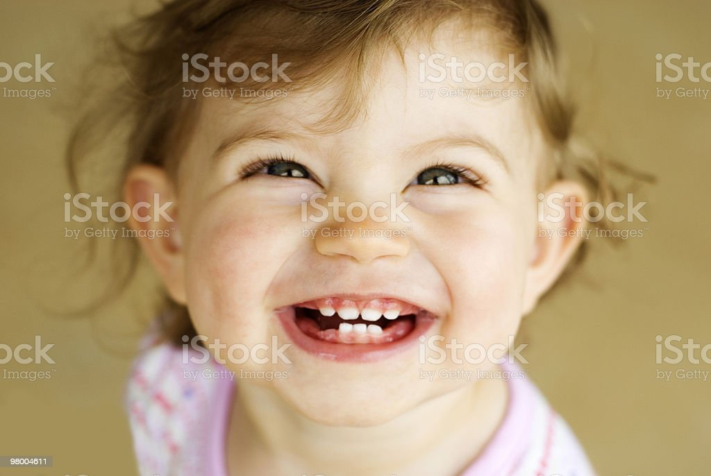 Adorable Little Girl Big Smile royalty-free stock photo