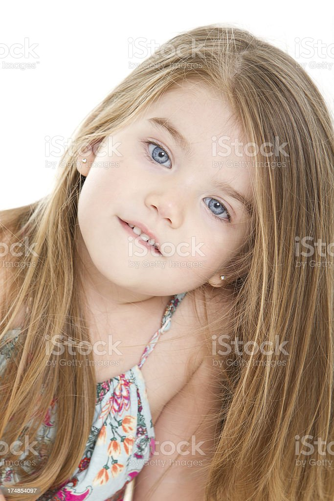 Adorable little girl having fun royalty-free stock photo