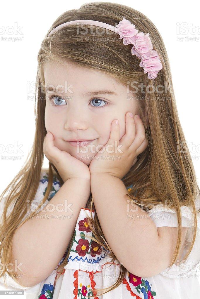 Adorable little girl having fun royalty-free stock photo