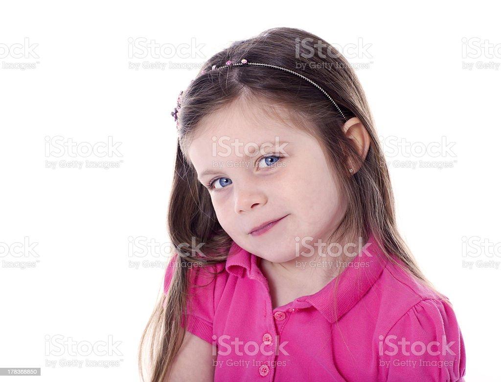 Adorable little girl portrait royalty-free stock photo