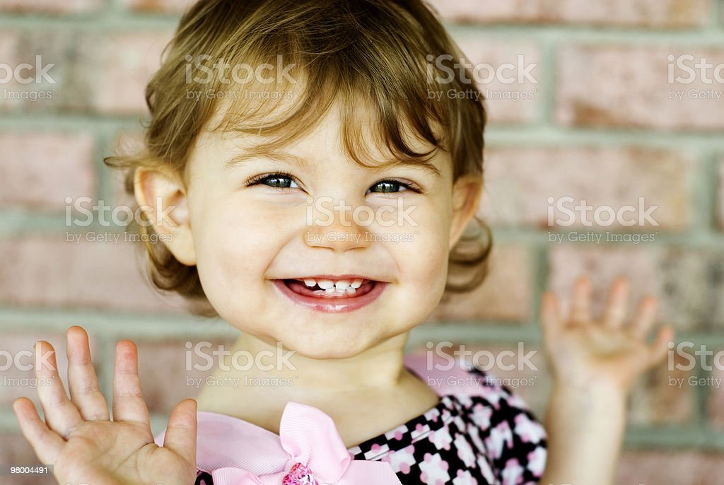 Adorable Little Girl Very Expressive Face royalty free stockfoto