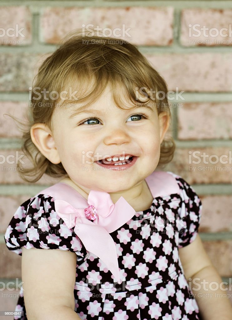Adorable Little Girl with Big Smile royalty free stockfoto