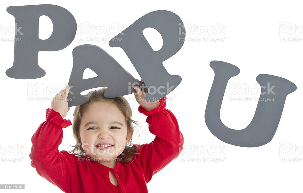 Adorable little girl with letters royalty-free stock photo