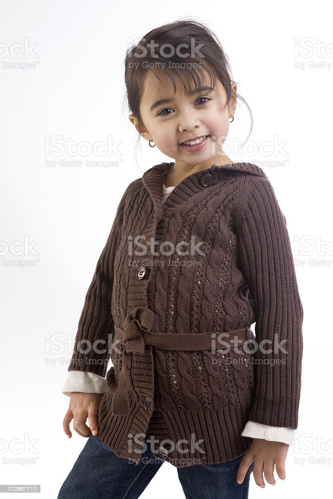 Adorable Mixed Asian and Hispanic Little Girl Fashion Model royalty-free stock photo