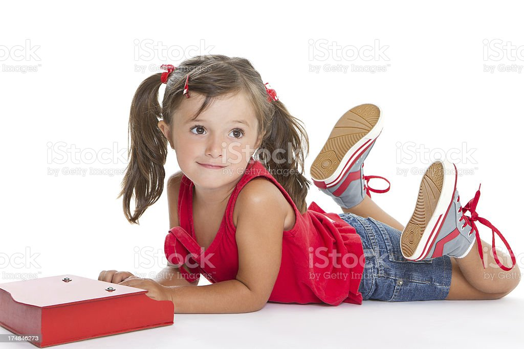 Adorable musician royalty-free stock photo