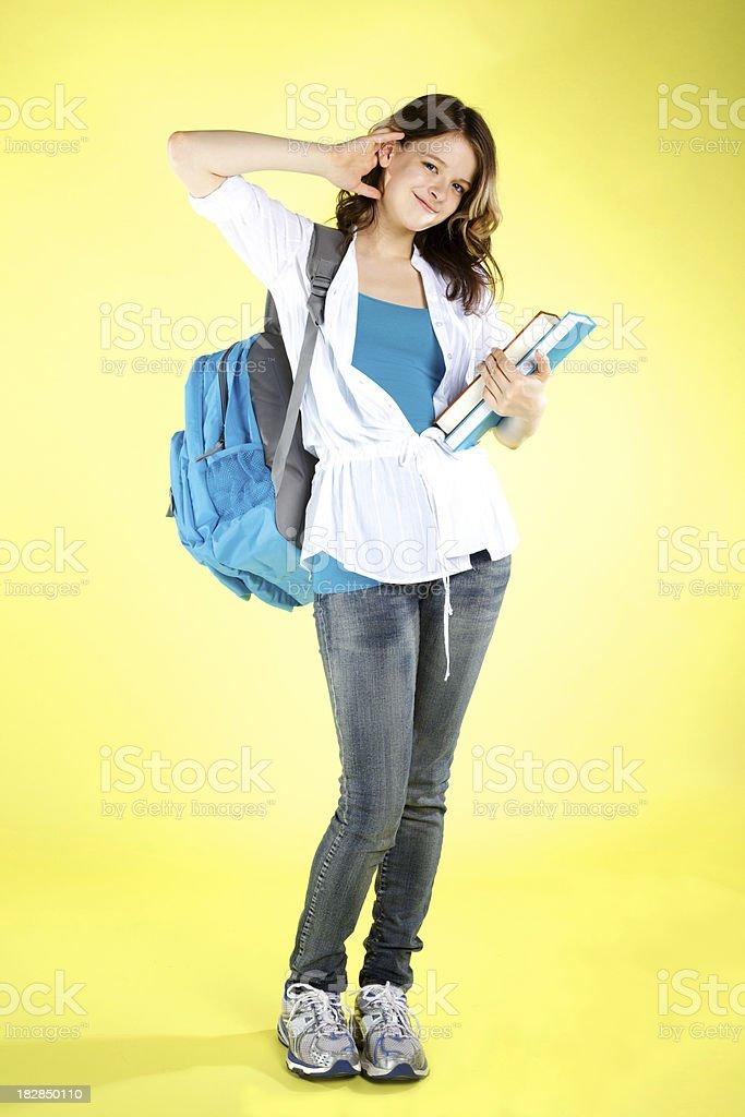 Adorable Teenage Girl - Student royalty-free stock photo