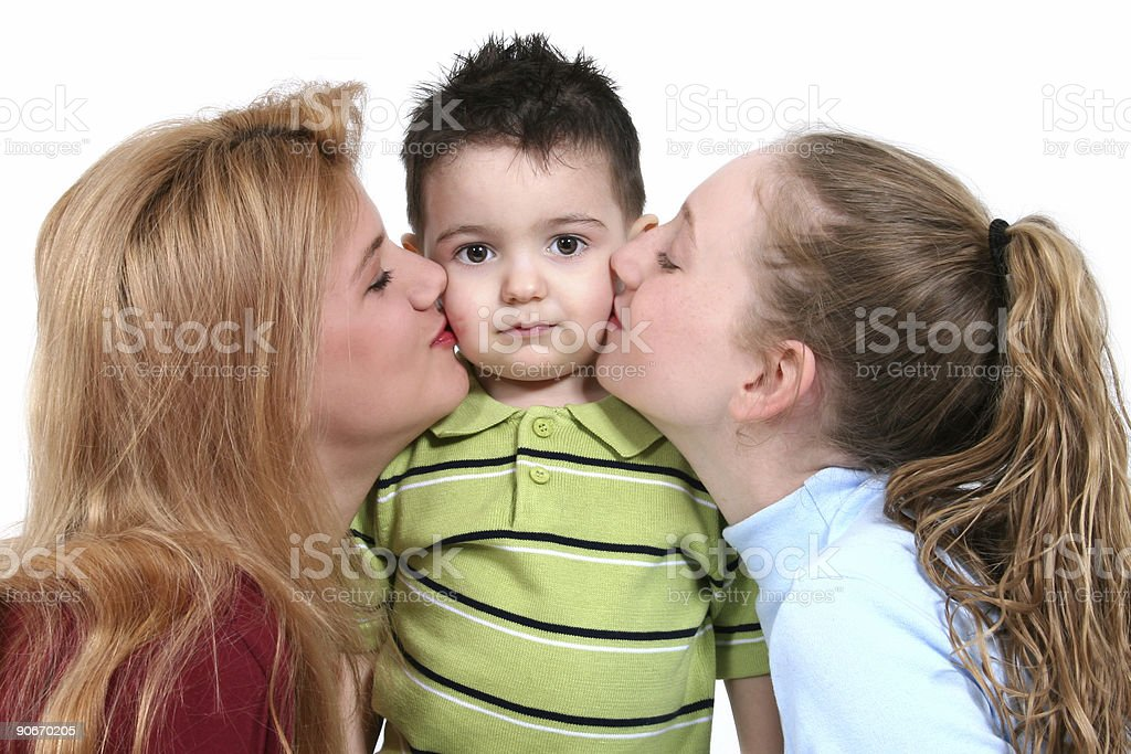 Adorable Toddler Boy With Girl Trouble royalty-free stock photo