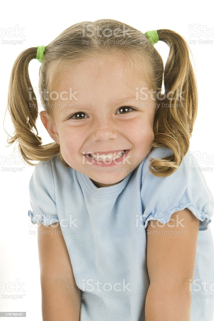 Adorable Young Girls Head Shot royalty-free stock photo