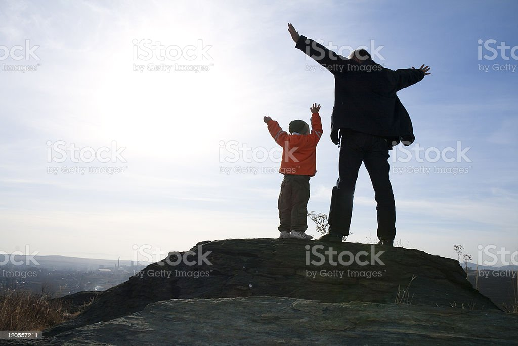 Adoration of heaven royalty-free stock photo
