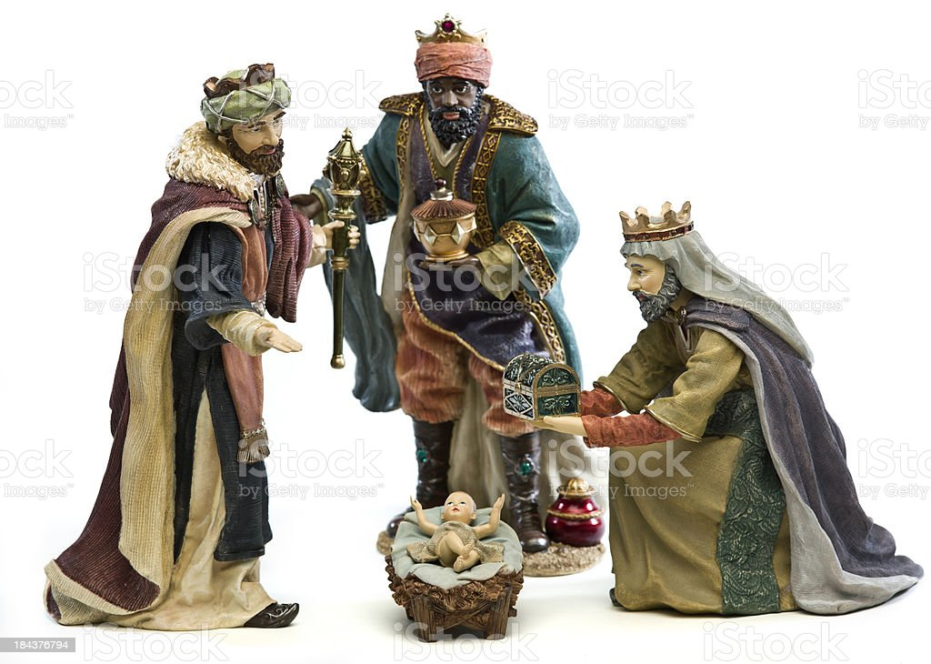 Adoration (Nativity scene) stock photo