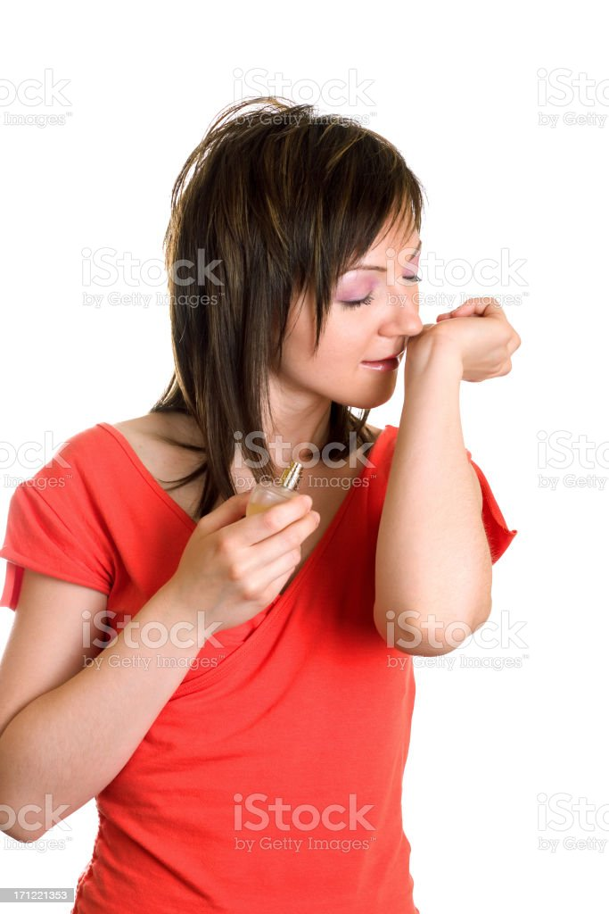 I adore this perfume stock photo