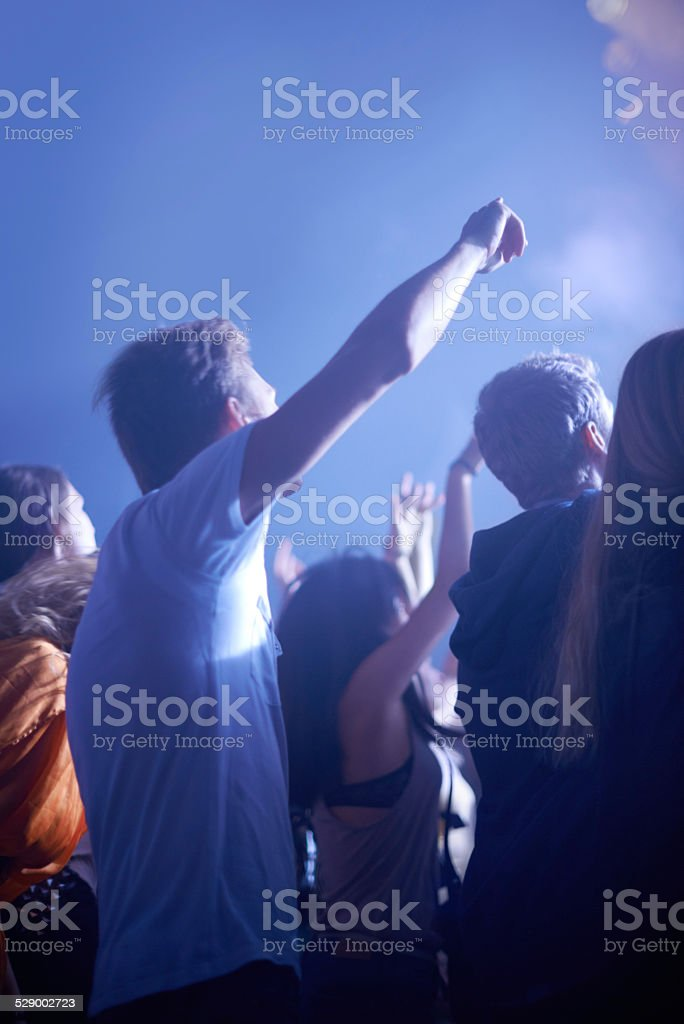 Adored by the fans stock photo