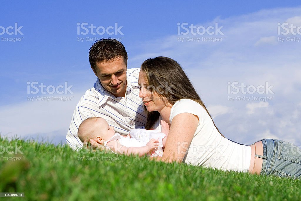 adoring parents(SEE below for more family images) royalty-free stock photo
