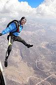 Skydiver in action, Grobnik, Rijeka, Croatia.