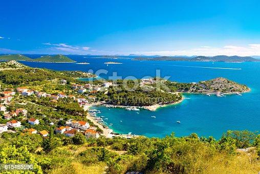 istock Adriatic archipelago aerial summer view 615485590